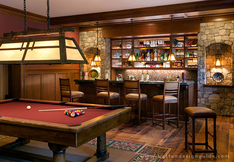 Custom bar and pool room