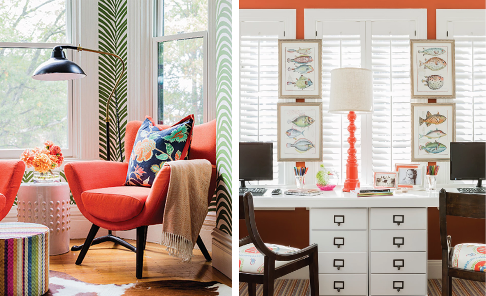 Living Coral color used in Elizabeth Home & Decor