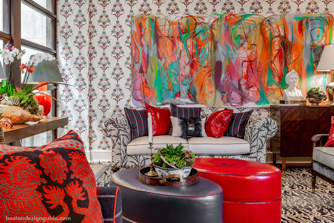 Family and game room inspired by Mardi Gras by Eric Haydel Design