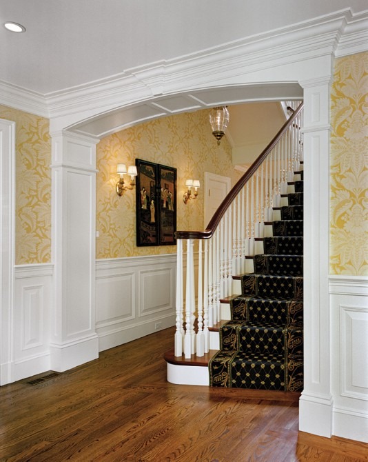Yellow Foyer Ideas : Fallon custom homes renovations