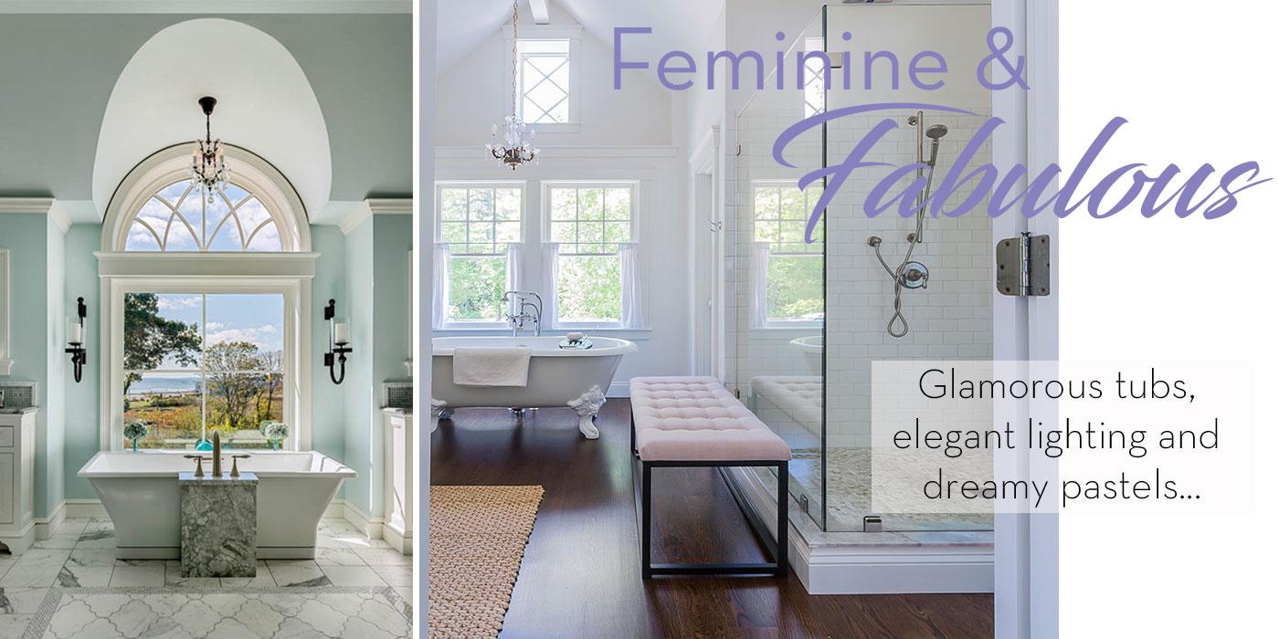 Feminine and elegant master bathrooms