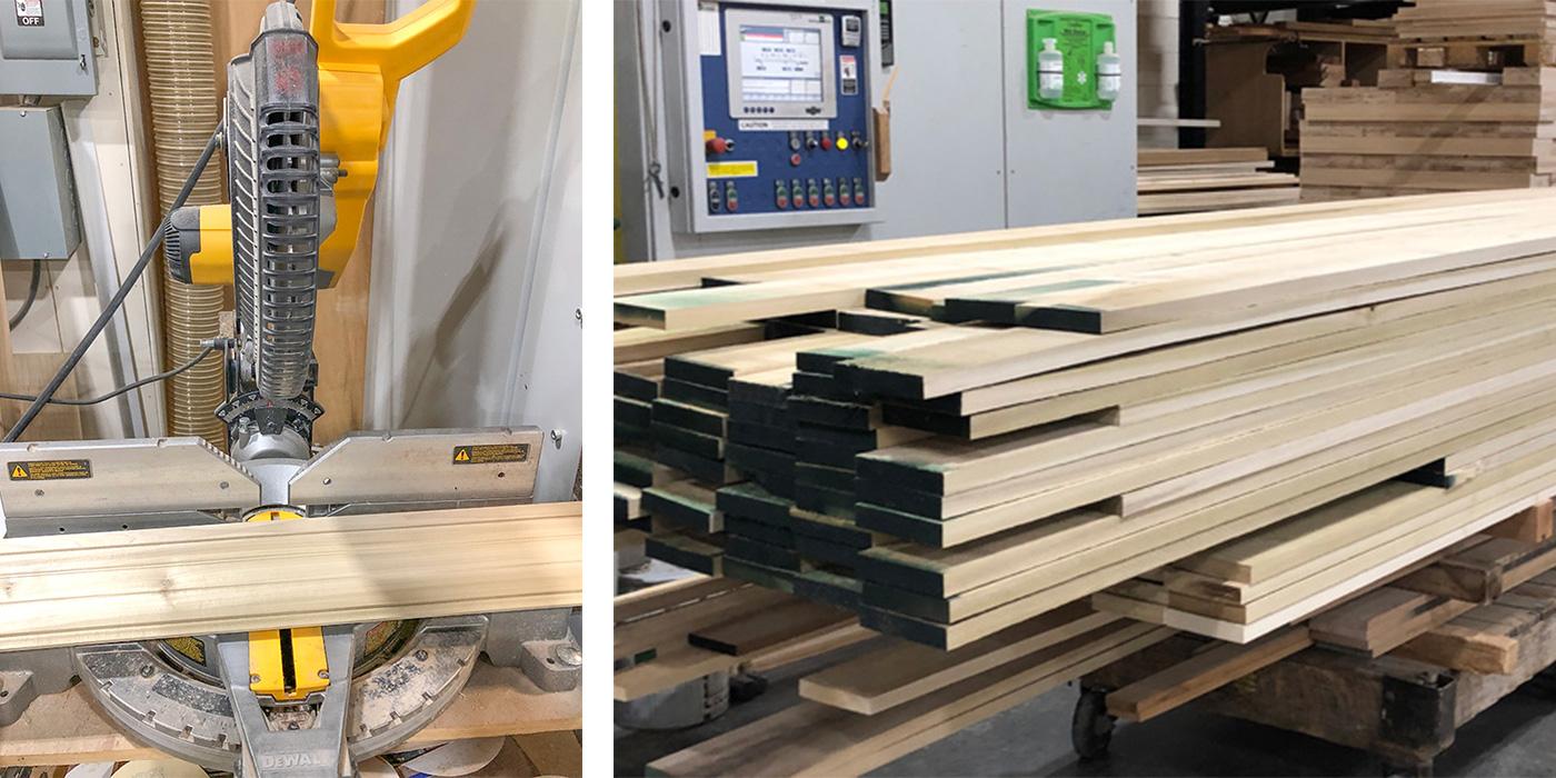 Cutting-edge equipment at Fine Finish Inc. creates custom moldings