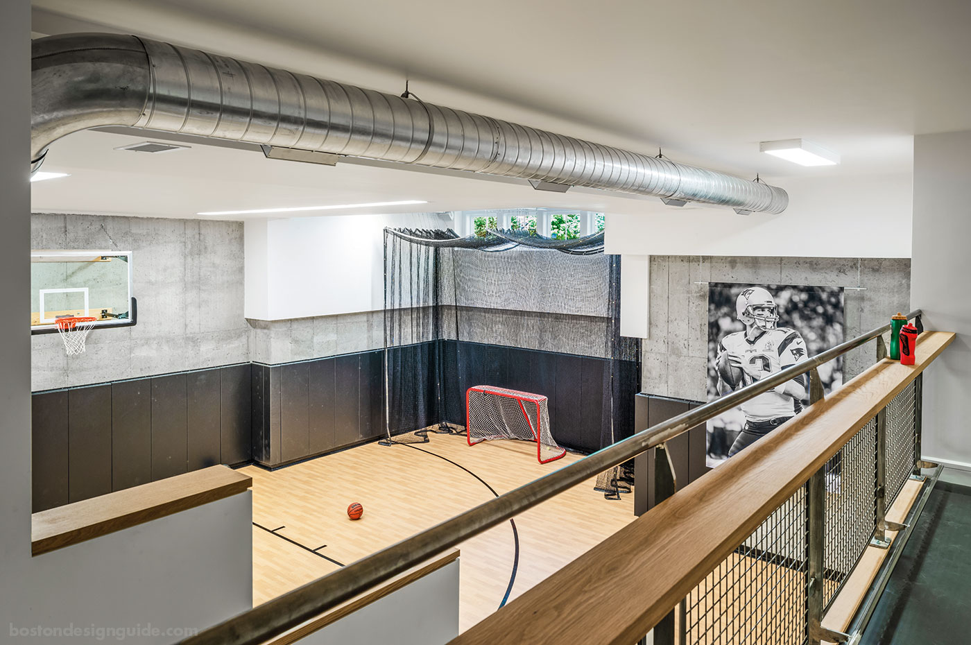 Basement sport court by Flavin Architects