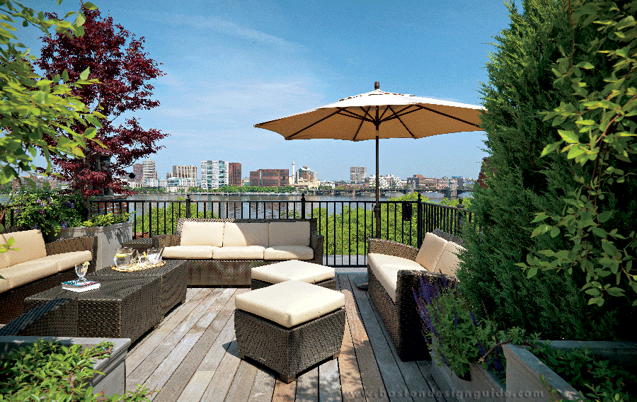 (Back Bay Penthouse | Built by Constructure; Home Integration by Creative Systems; Staining by New England Architectural Finishing; Photography by Richard Mandelkorn)