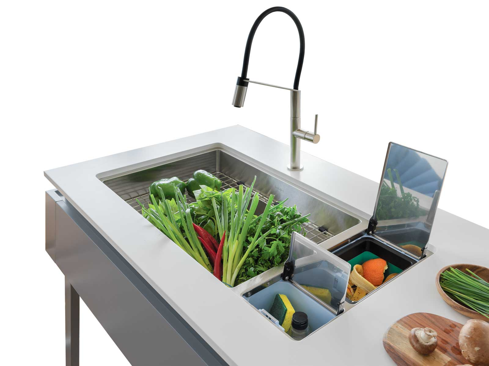 Franke Chef Center multi-functioning sink