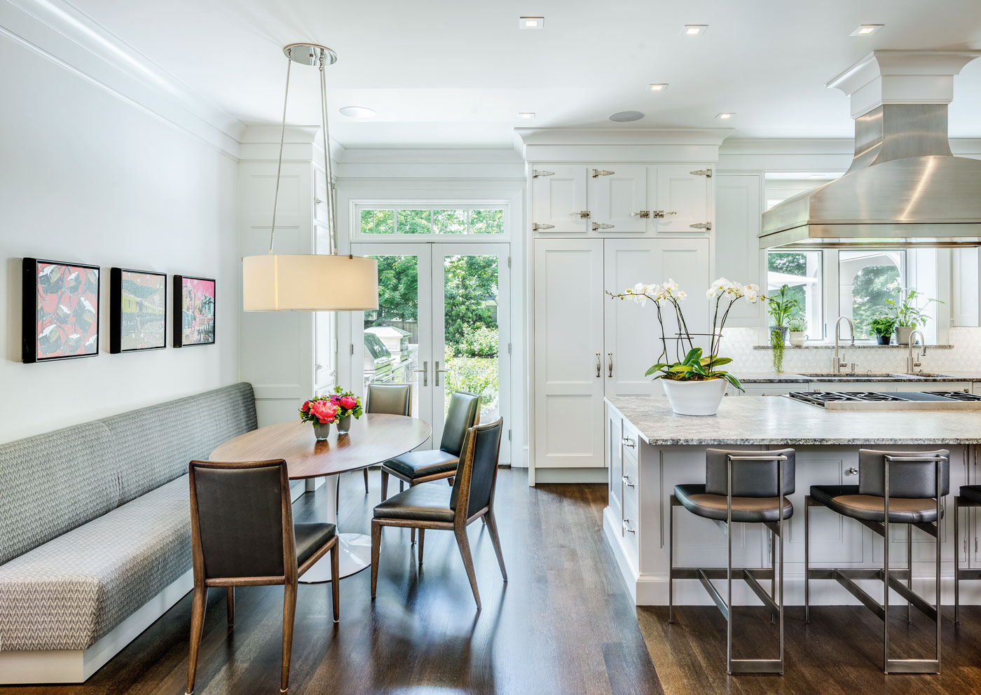 Christopher Peacock kitchen in a high-end New England home designed by Morehouse MacDonald and Associates and built by Sanford Custom Builders, Inc.