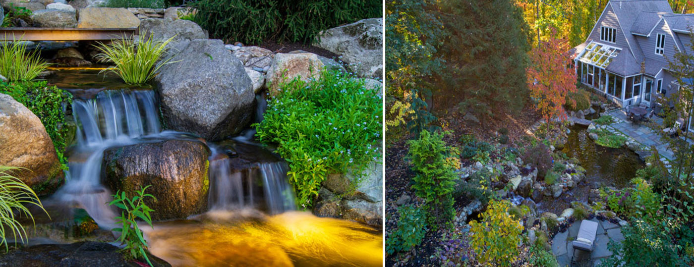 Residential Landscape Water Features by FallingWater Scapes