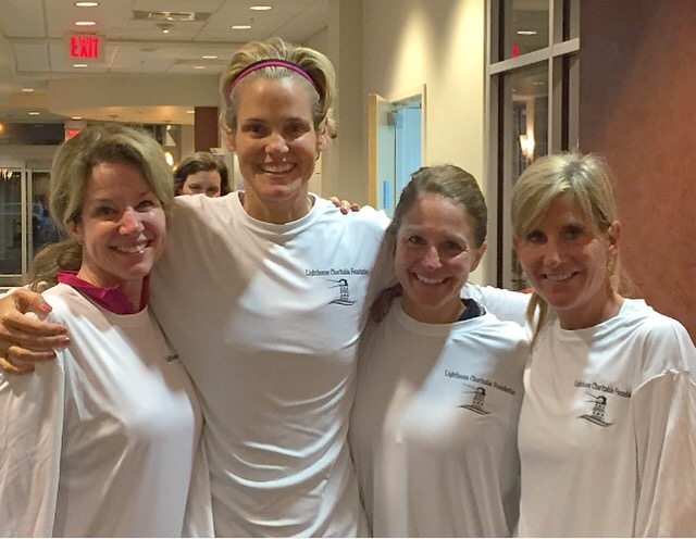 Spinning with Dara Torres for the Lighthouse Charitable Foundation
