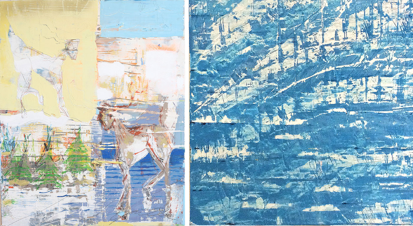 The work of sustainable artist David Gonville is on view at the JS Gallery