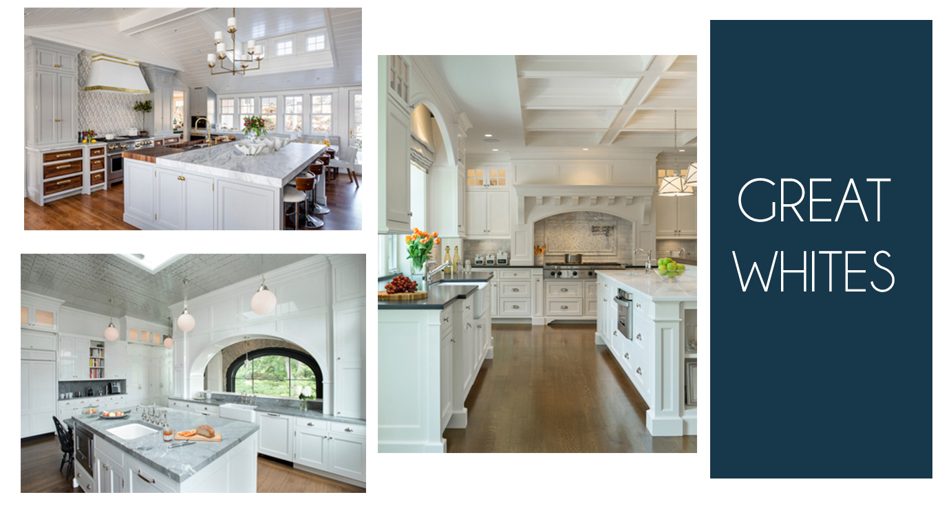 High-end custom white kitchen design ideas from Digs Design, Slocum Hall Design Group, Kistler & Knapp Builders and Jan Gleysteen Architects