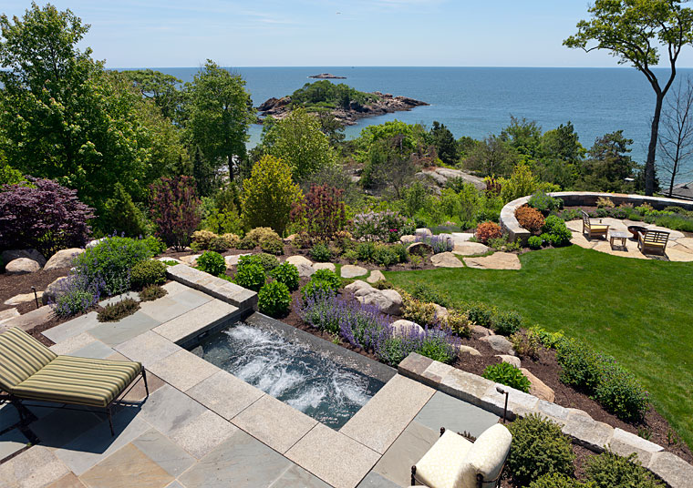 Oceanside Landscape in Manchester-by-the-Sea by R.P. Marzilli and Company and Gregory Lombardi Design