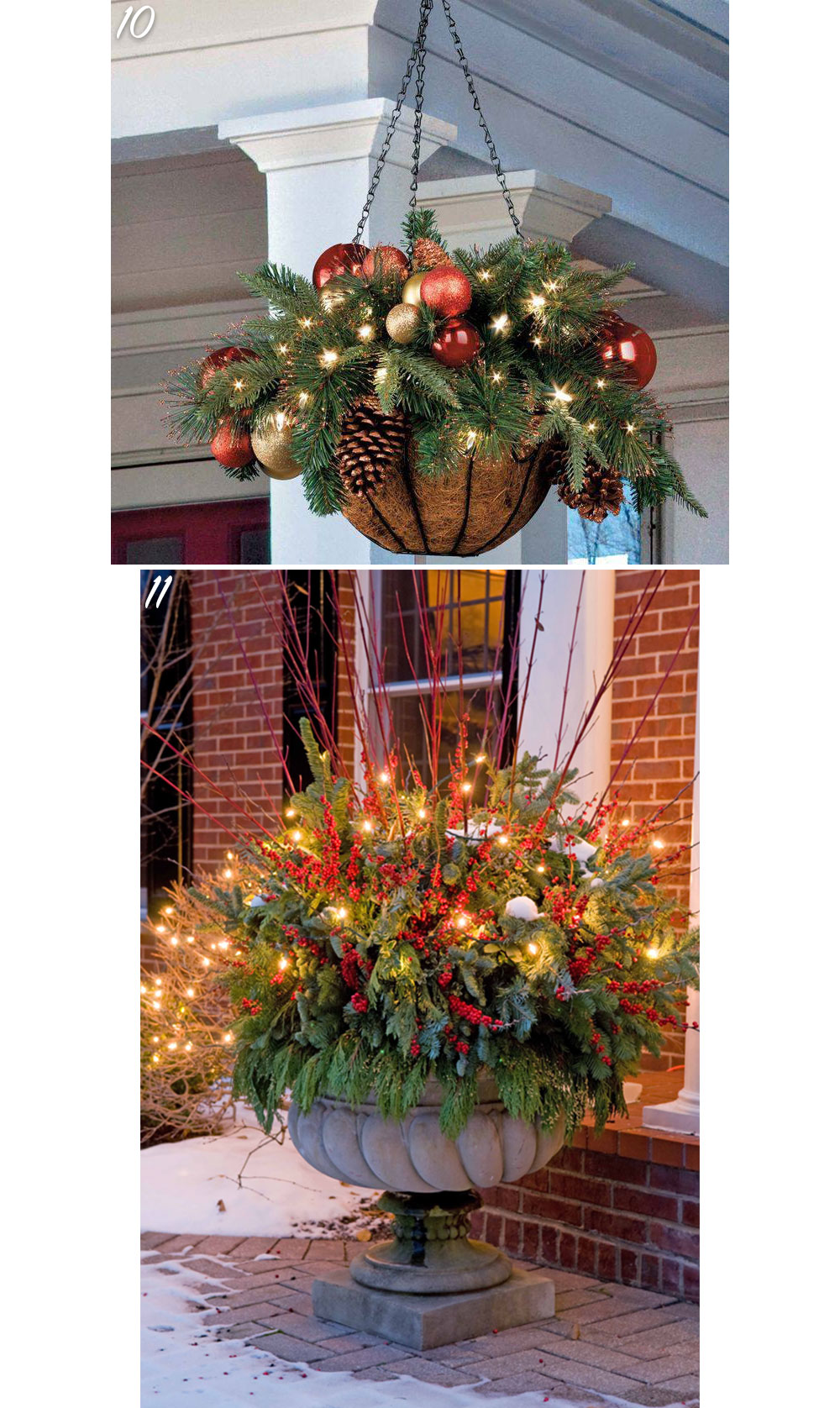 Home Planter Holiday Decor