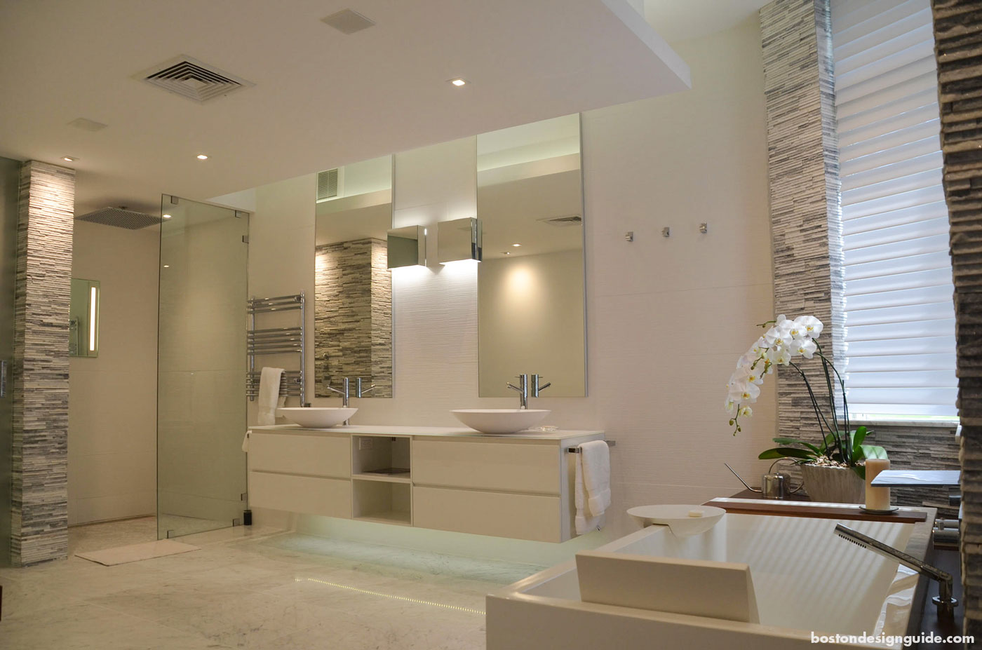 Master bath with home integration technology by SDI