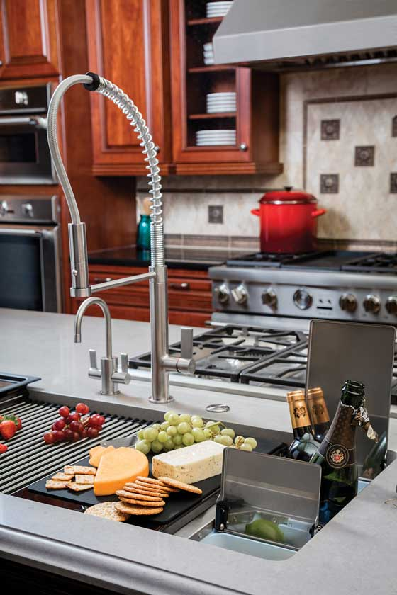 Franke Chef Center multi-functioning sink for entertaining, available at Splash