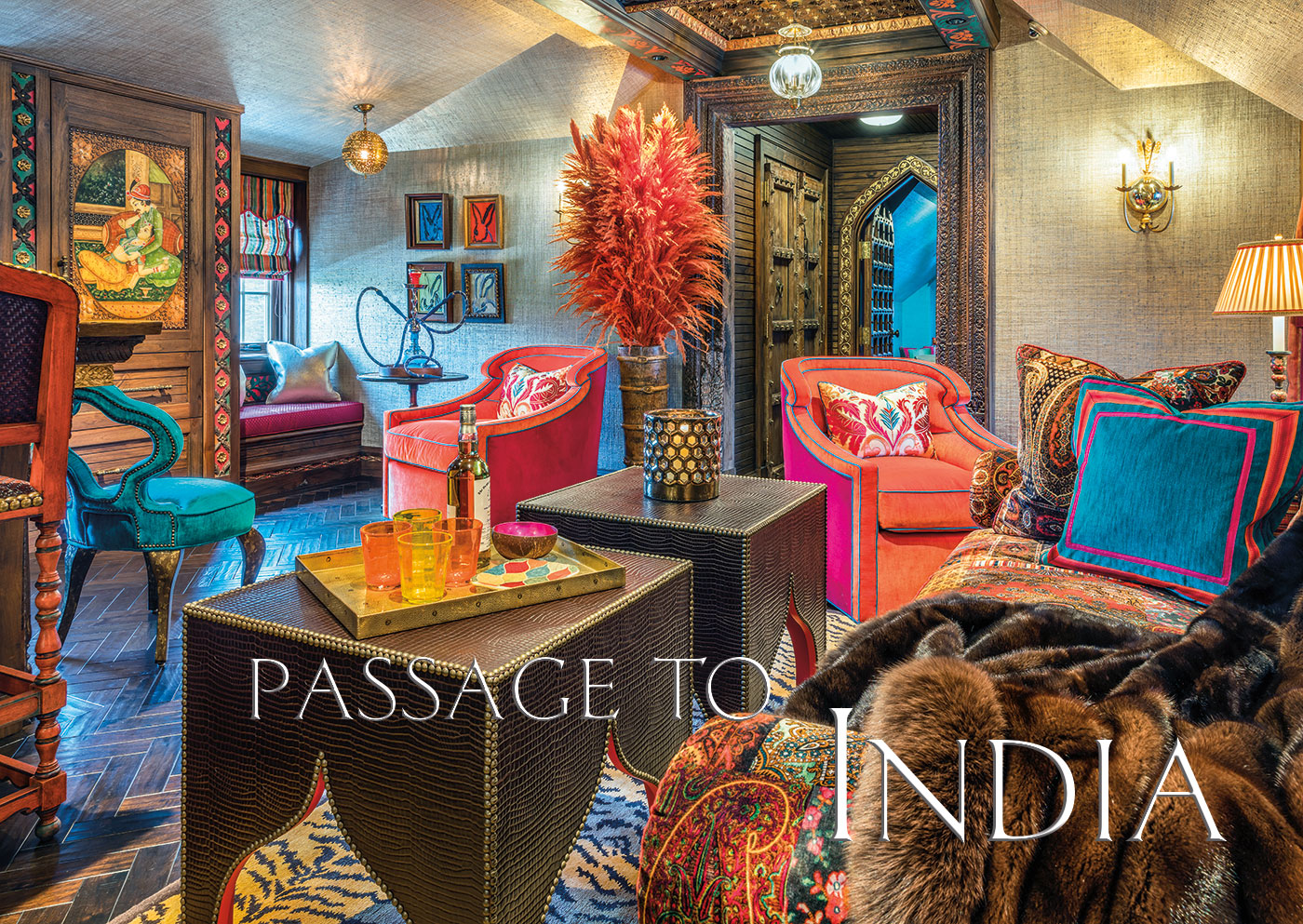 Interior design inspired by India by Anthony Catalfano Interiors