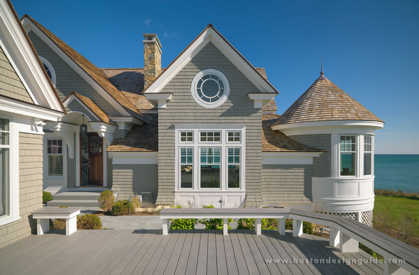 New england shingle style homes for Cape cod house exterior design
