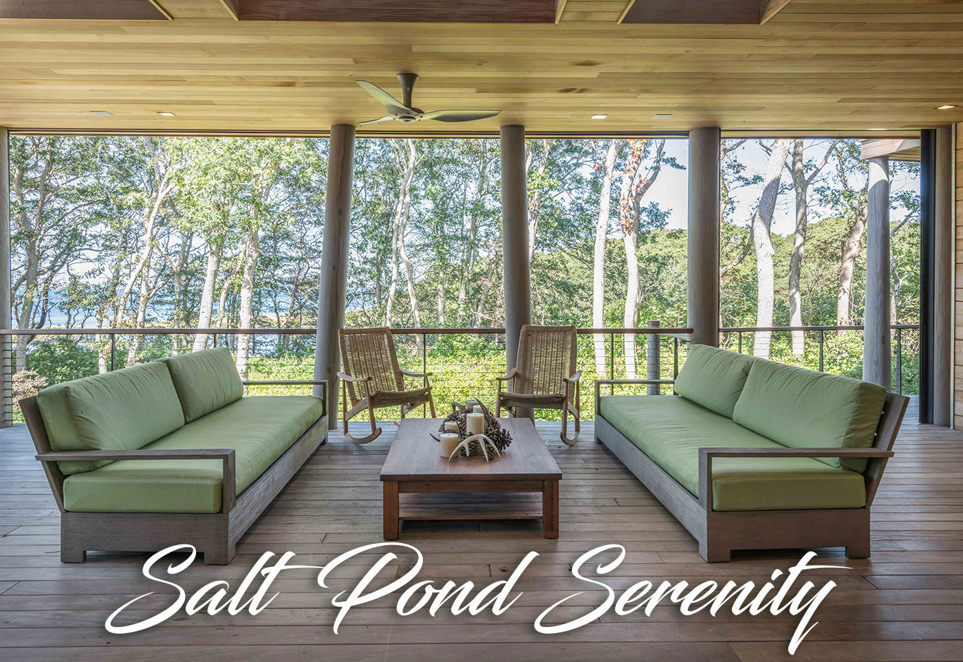 Screen porch on a salt pond by Jill Neubauer Architects, Inc.