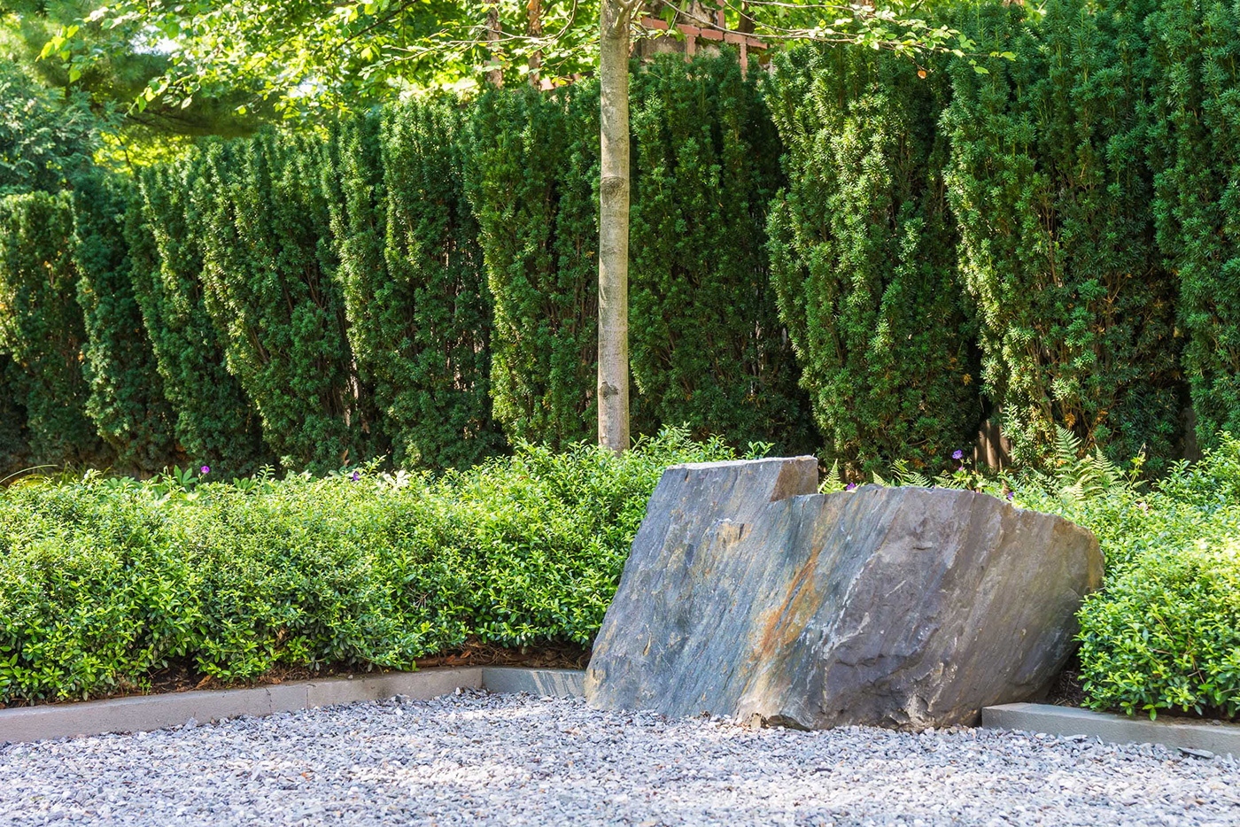 Contemporary Cambridge Stone Garden by Kimberly Mercurio Landscape Architecture