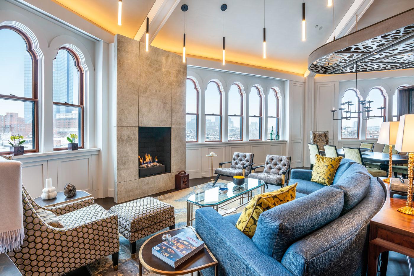 High-end Boston penthouse renovation by Kistler & Knapp Builders