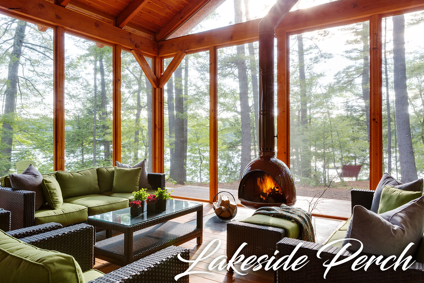 Lakeside screened porch by LDa Architecture & Interiors