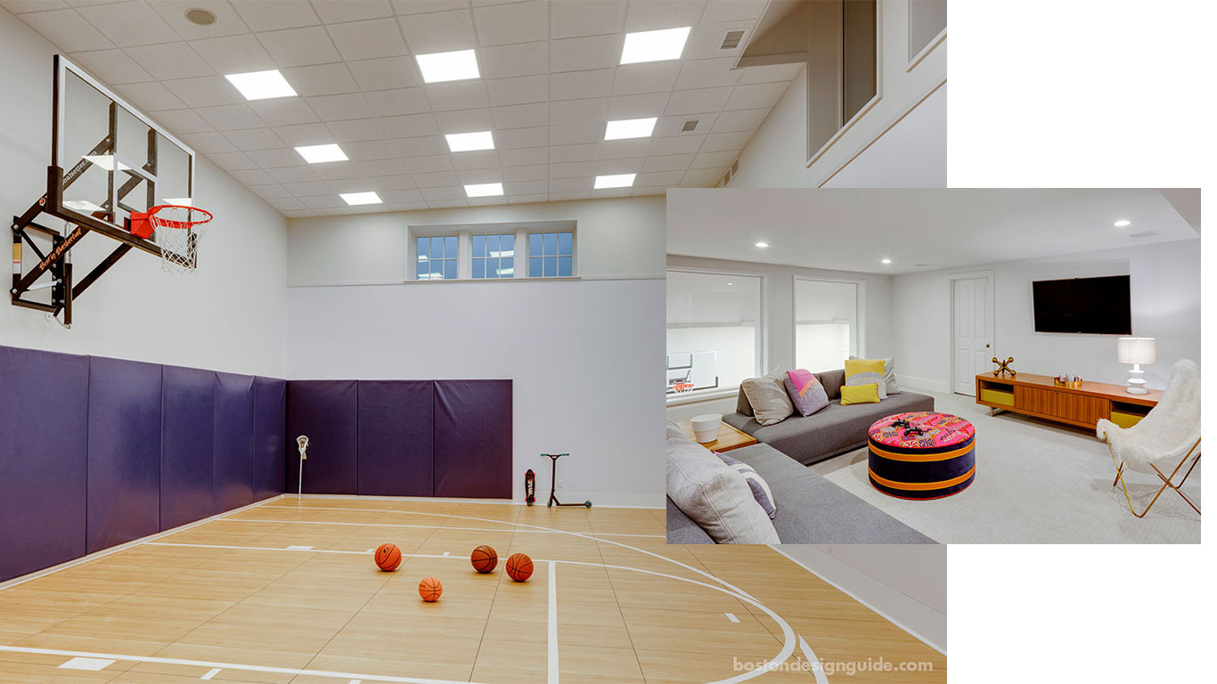 In-home basement sport court by LDa Architecture & Interiors