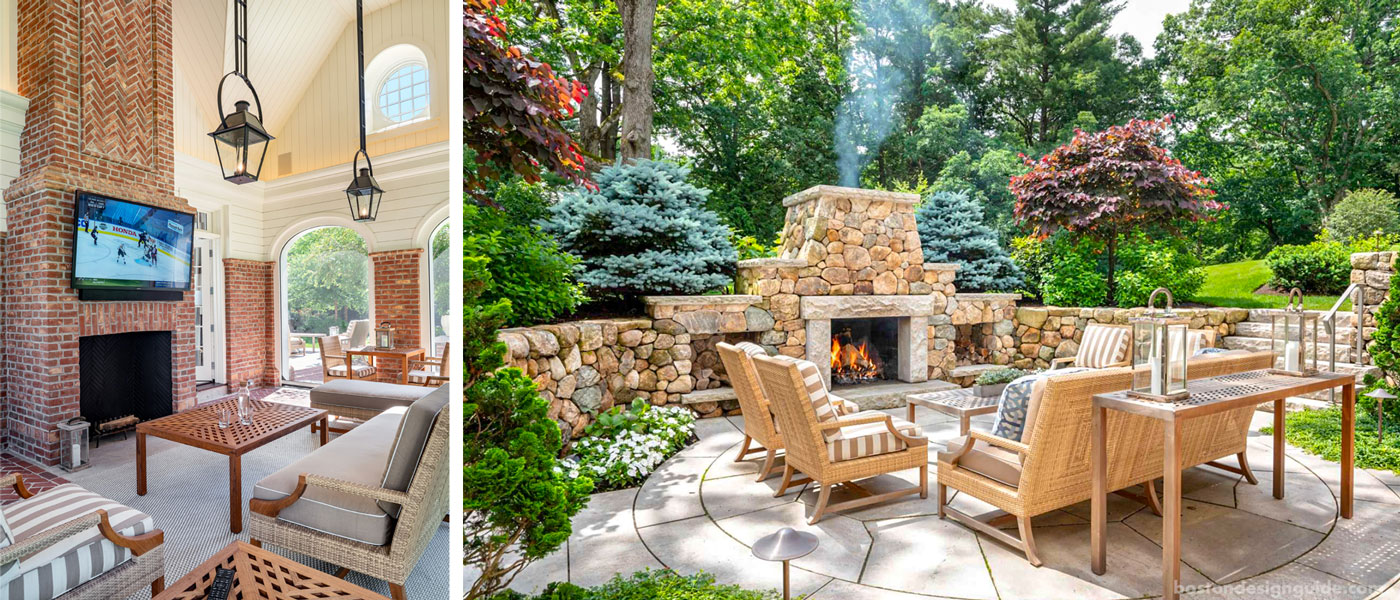 porch and outdoor fire pit