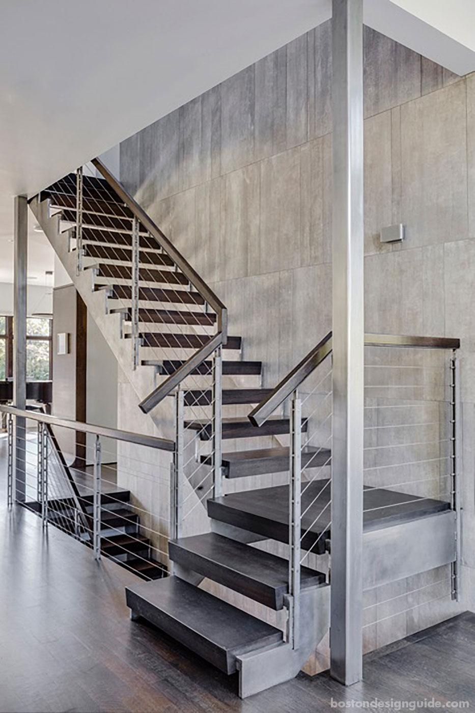 Architect Treffle LaFleche's stairway, built by Denali Construction Corp.