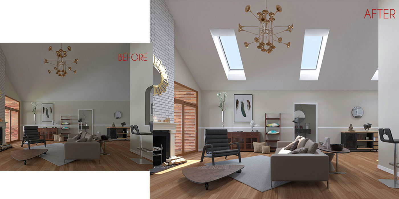 The difference that VELUX Skylights can make in a living space