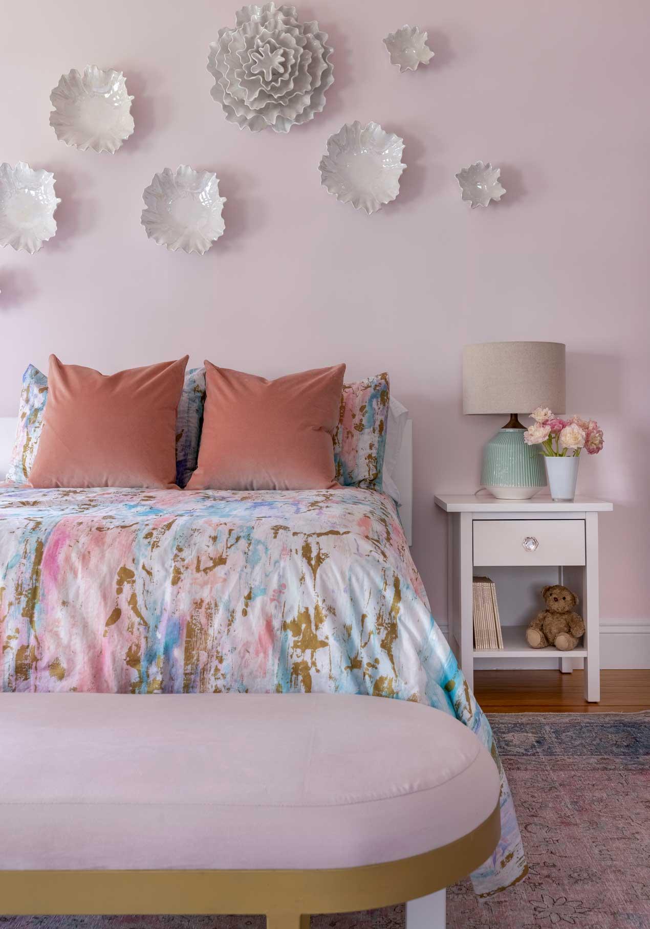little girl's pink bedroom