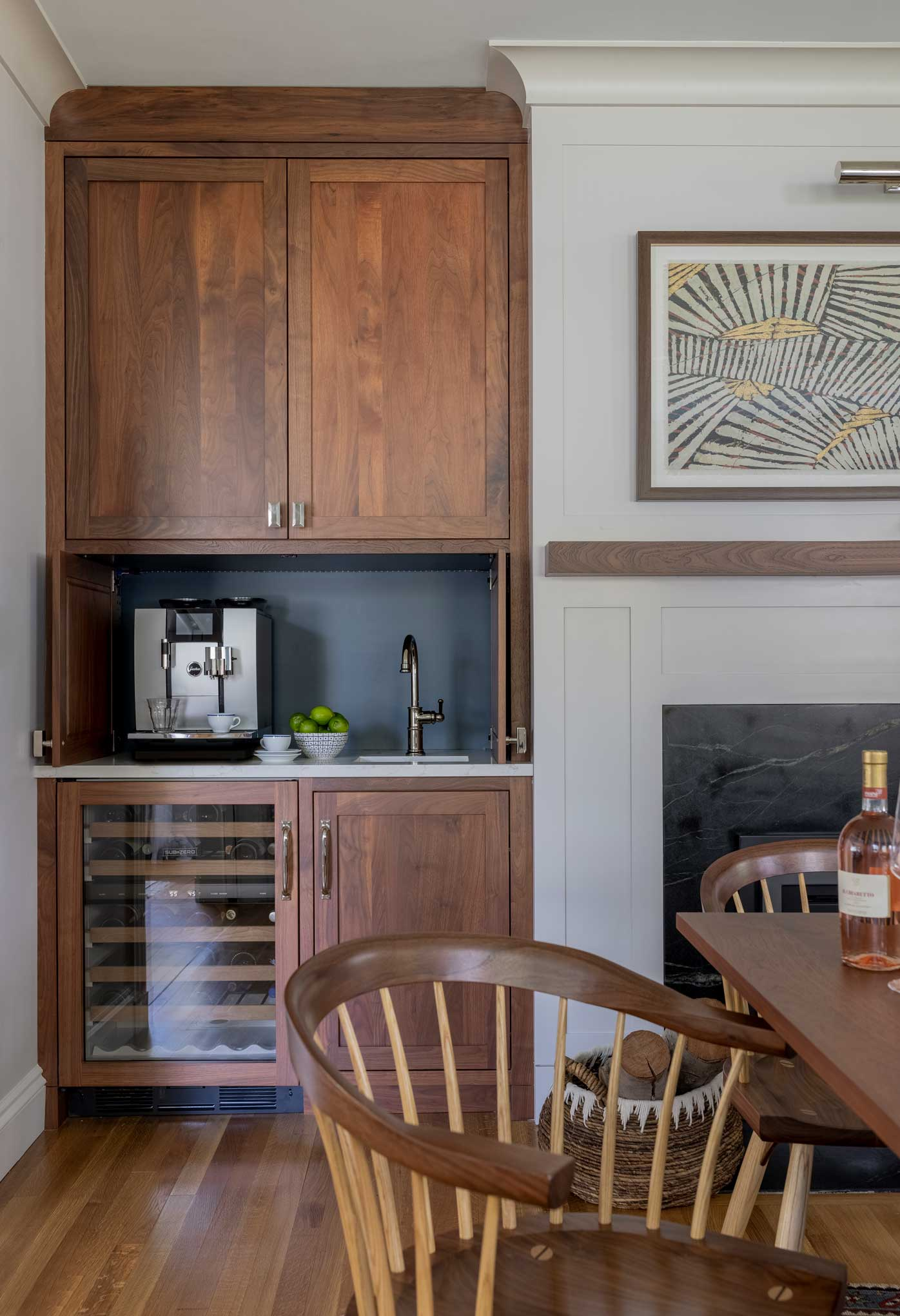 Coffee and wet bar nook