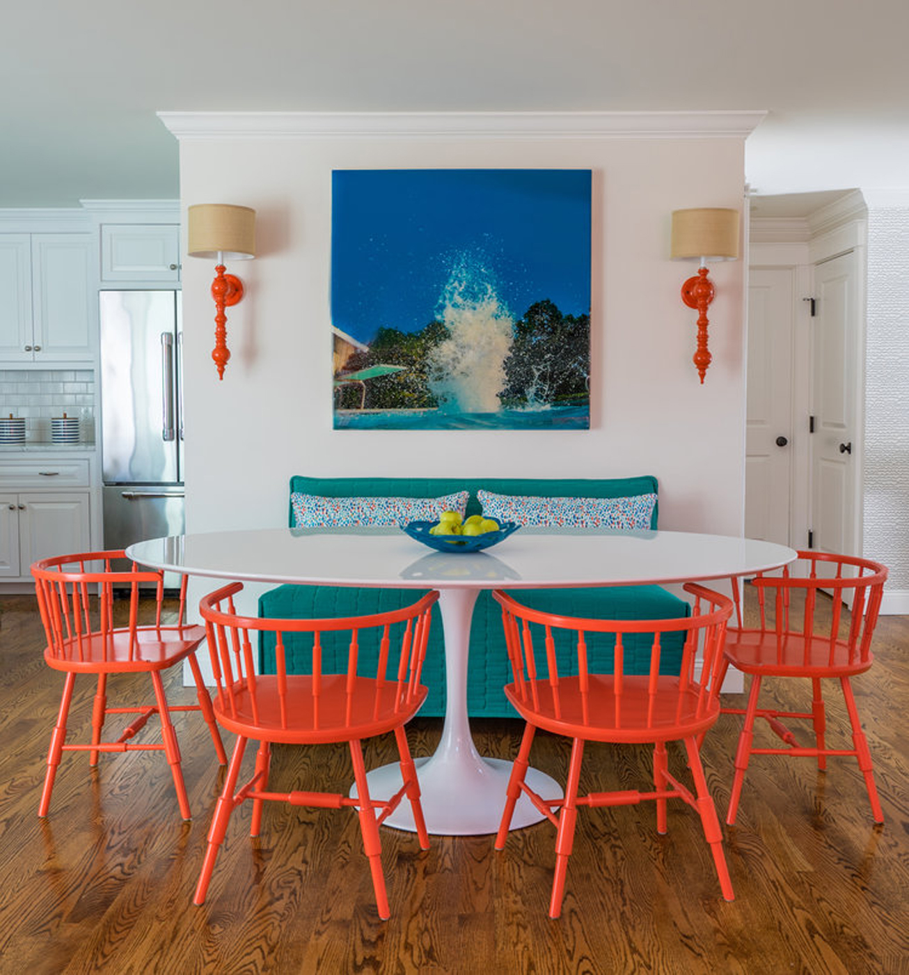 Colorful high-end interior design by Martha's Vineyard Interior Design