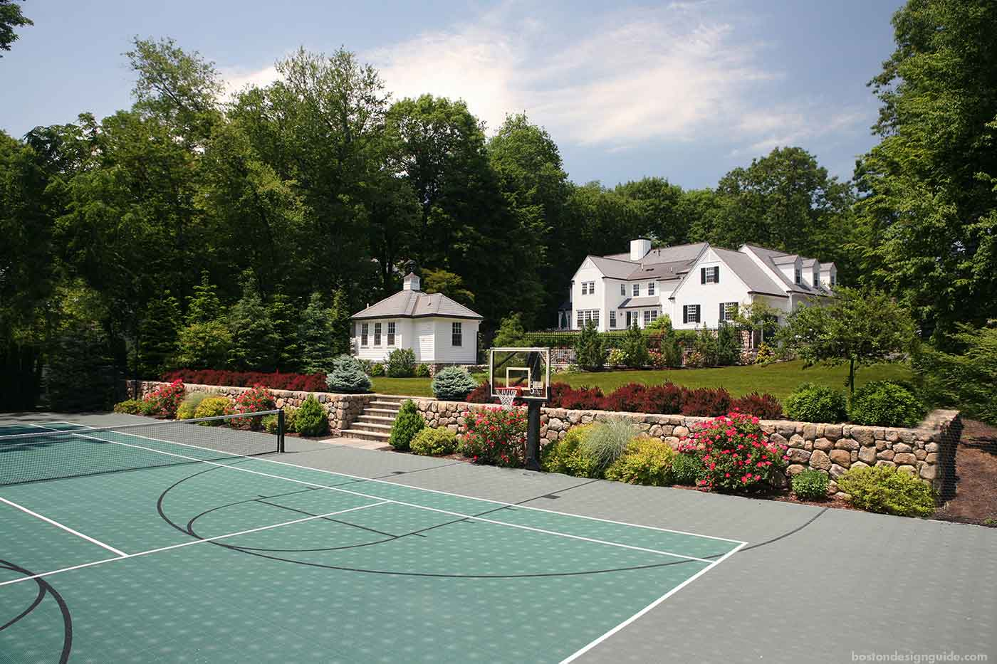 Tennis court design by The MacDowell Company