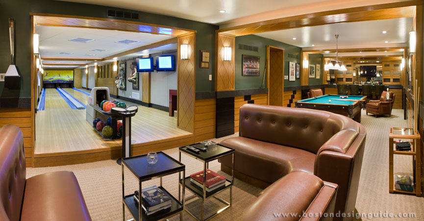 The making of a man cave boston design guide - Man caves chick sheds mutual needs ...