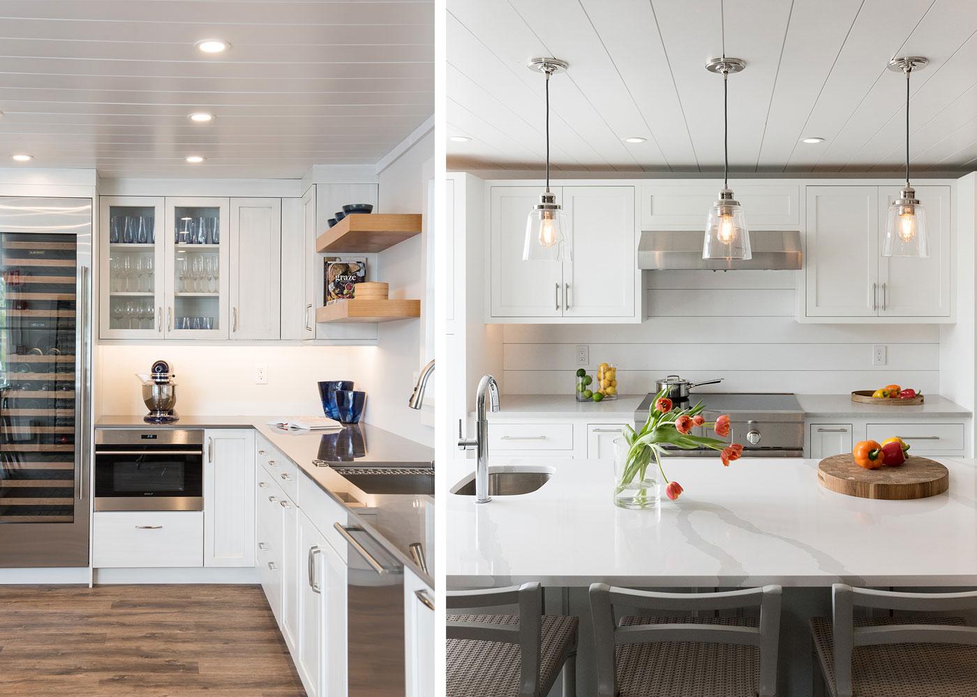 kitchen and bar set up at Marine Home Center