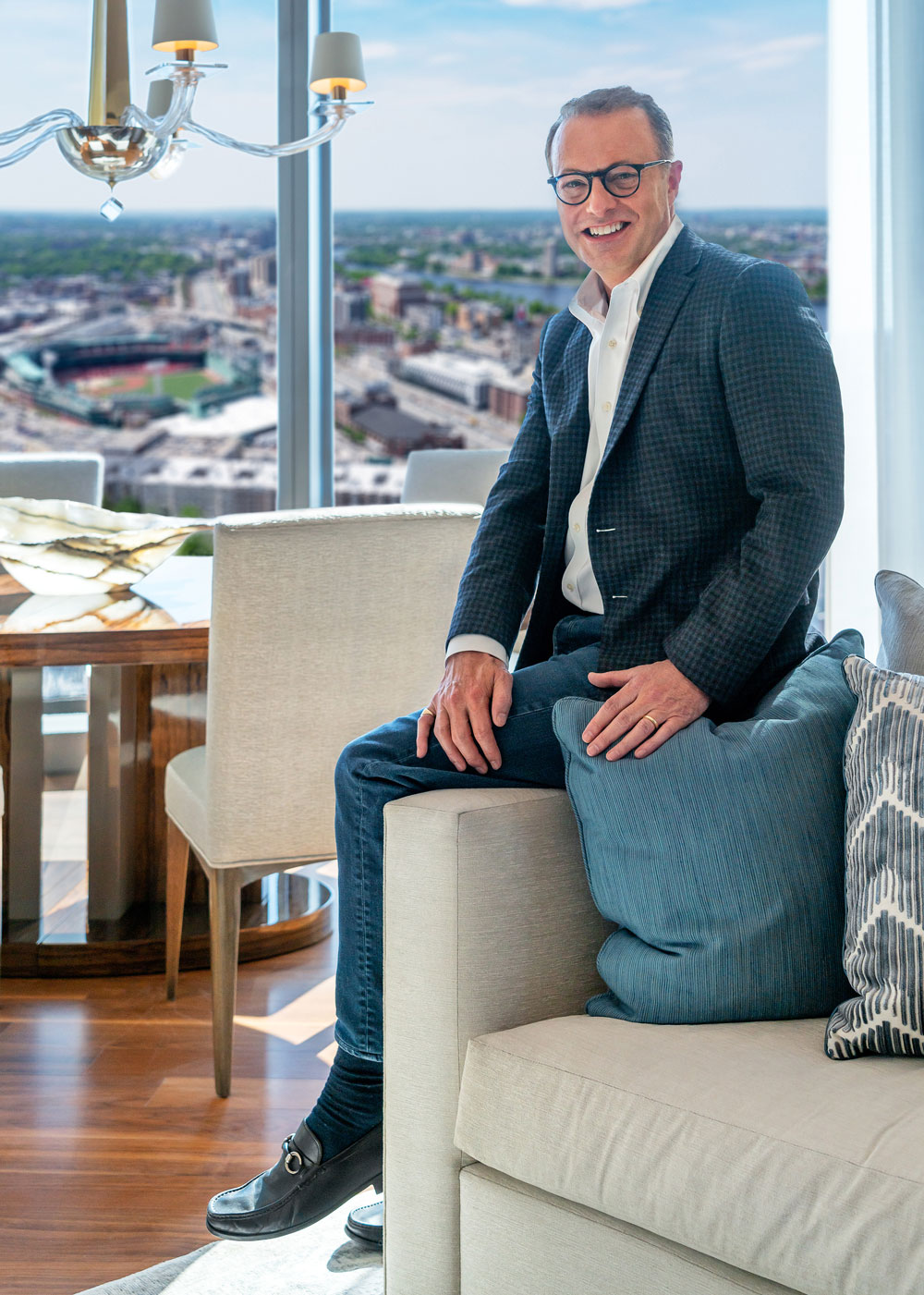 Interior Designer Michael Carter of Carter & Company, in Boston's new One Dalton, Four Seasons Hotel and Private Residences
