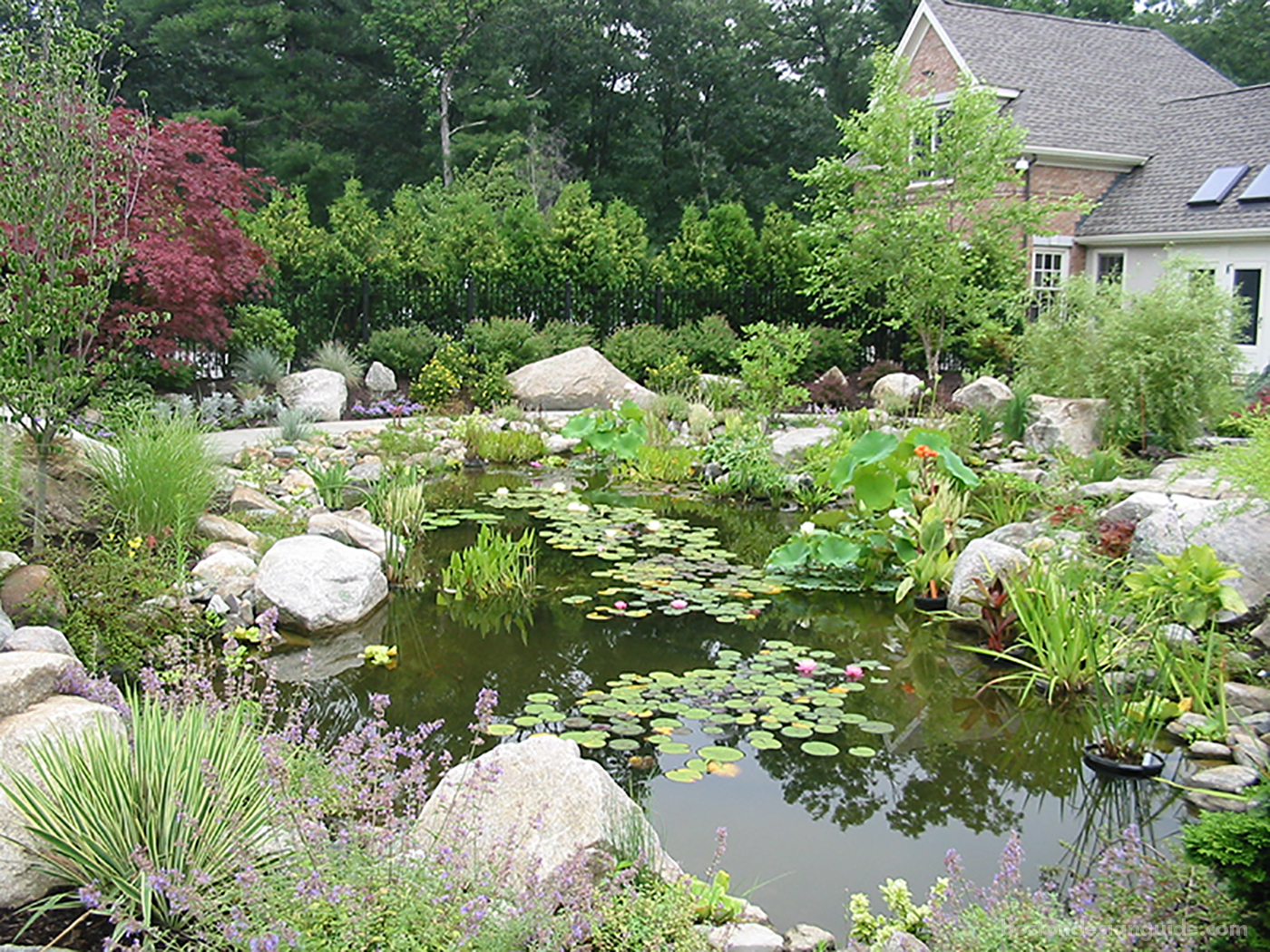 High-end Boston landscape with stones