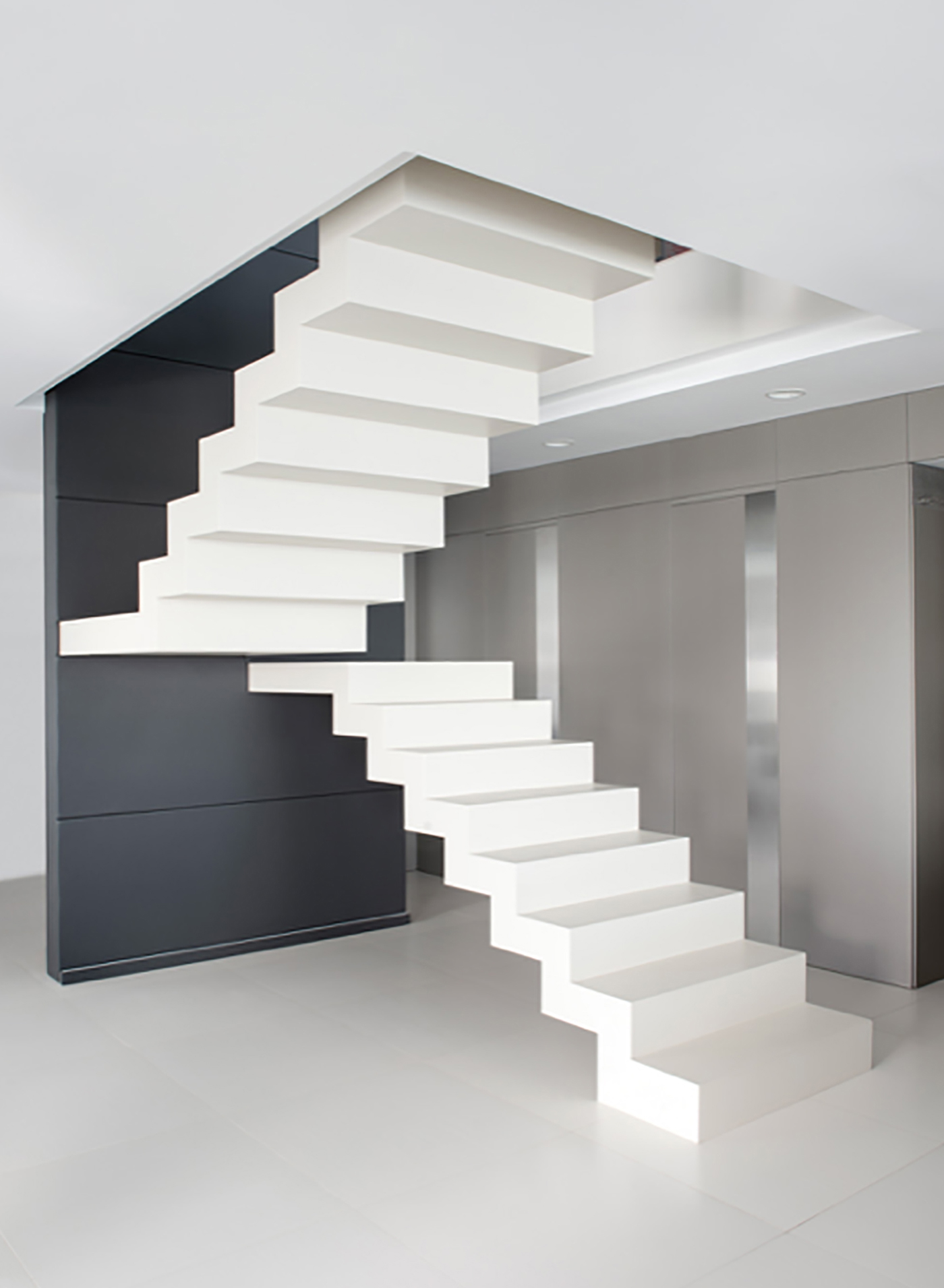 Contemporary stair with Neolith