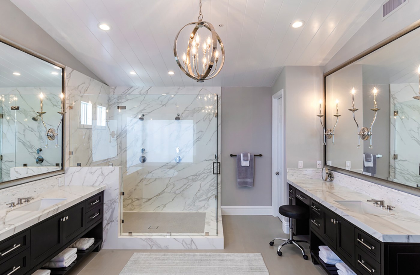Bathroom design with Neolith