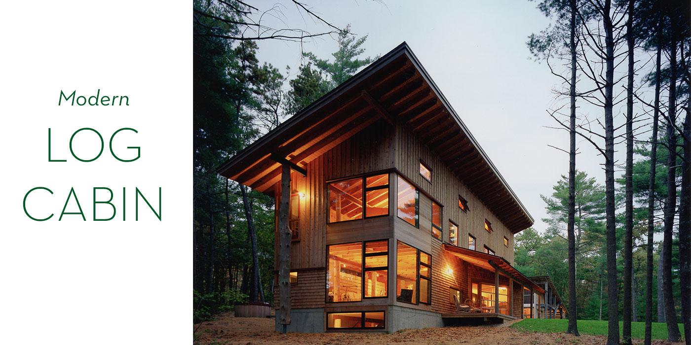 Modern log cabin designed by Jill Neubauer Architects
