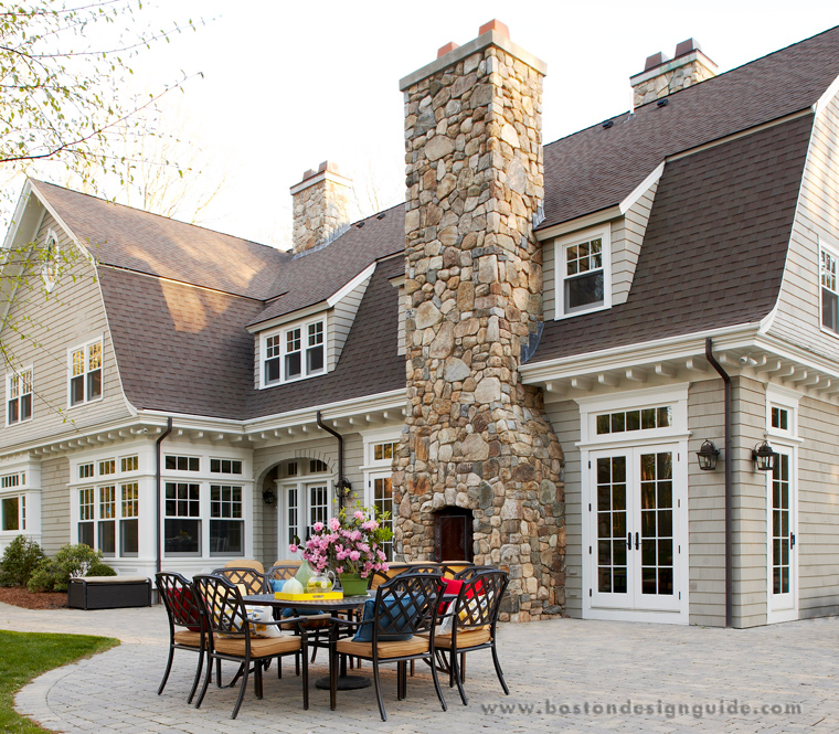 Outdoor fireplaces attached to homes boston design guide for In home design boston
