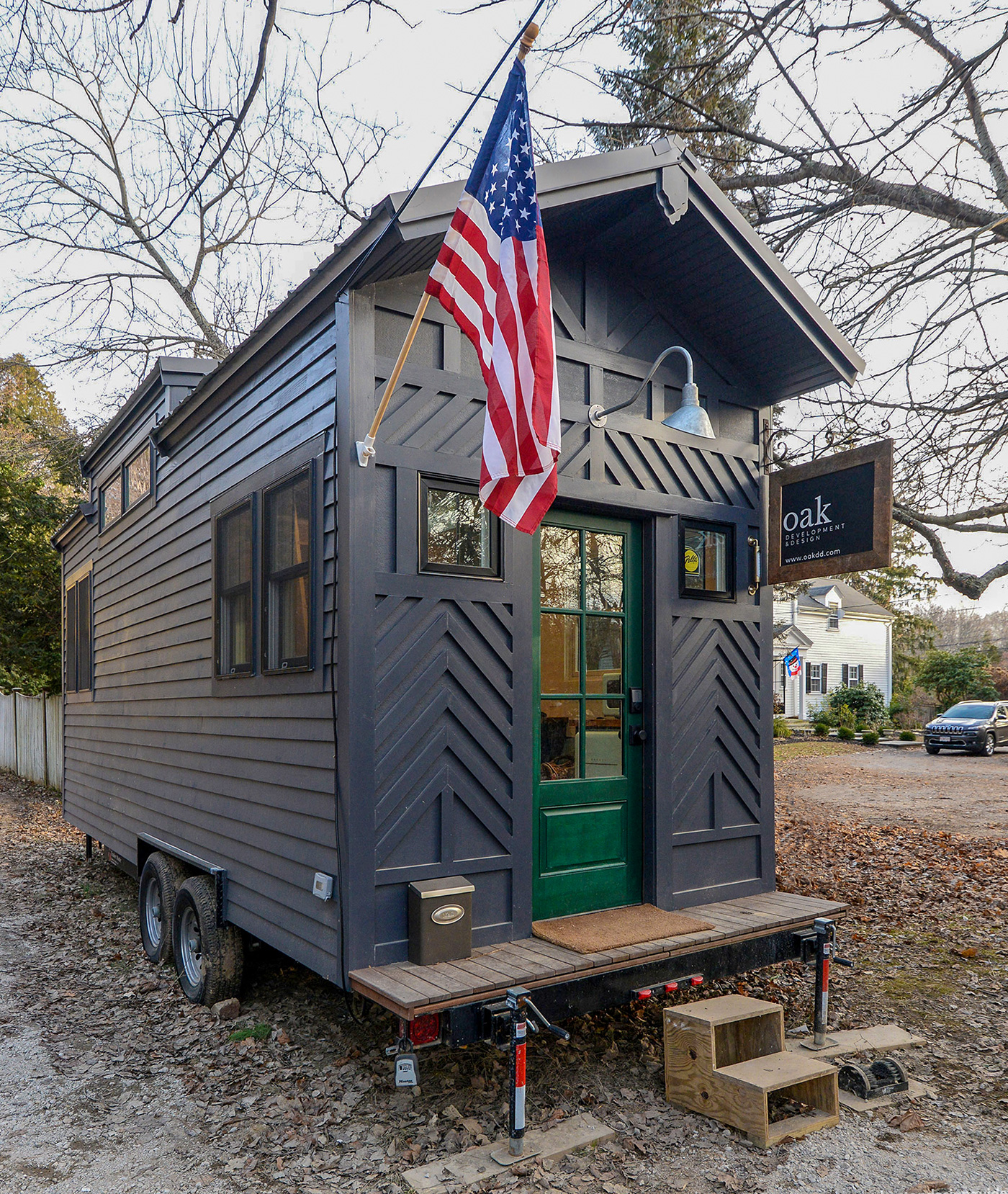 Tiny House turned temporary office by Oak Development & Design