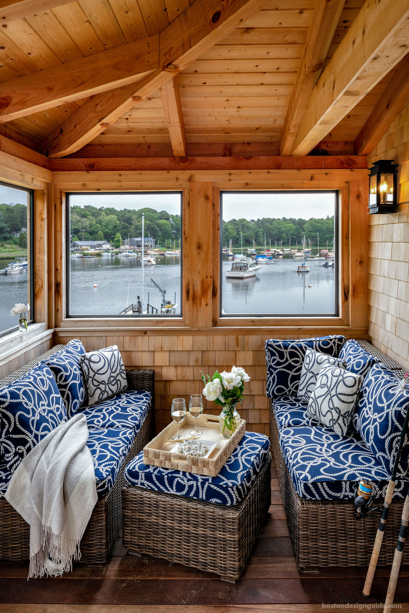 Cedar boathouse by McPhee and Associates