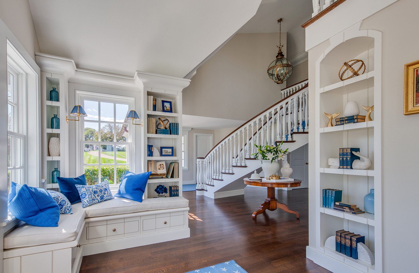 Window seat in Cape Cod home along the water