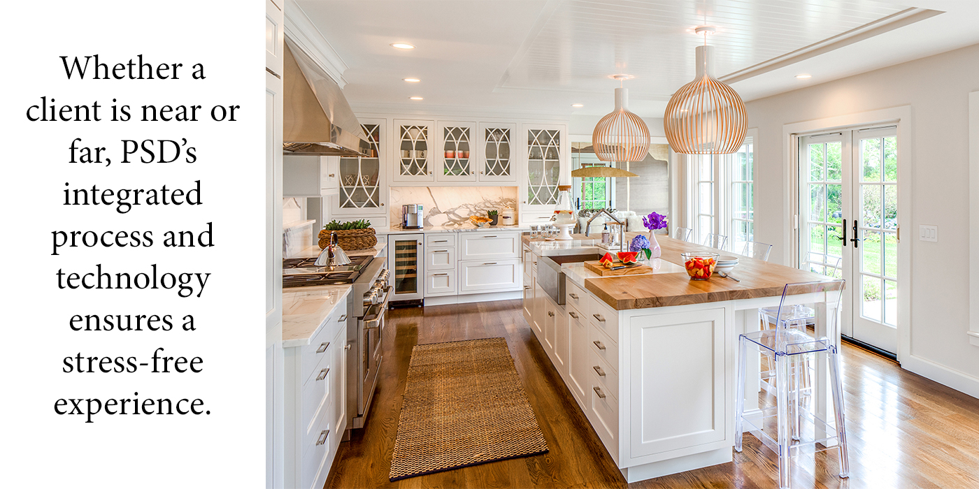 Upscale kitchen design and build by Polhemus Savery DaSilva