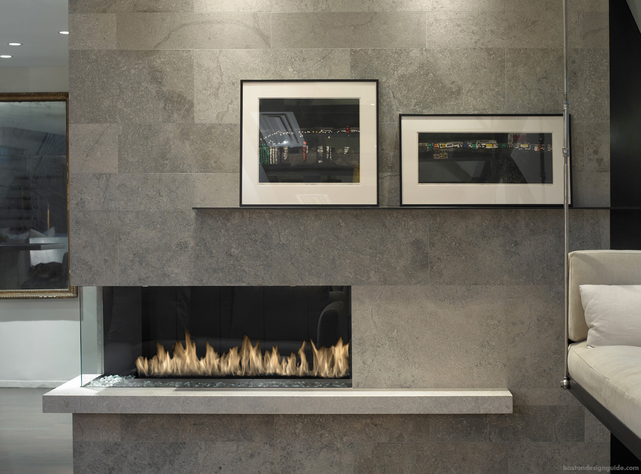 The new classics gorgeous looks in natural stone and tile paris ceramics castile grey limestone fireplace surround and hearth dailygadgetfo Image collections