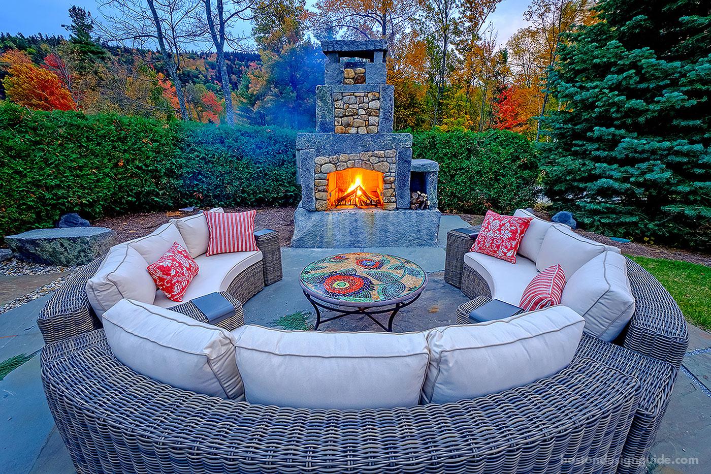 Custom fireplace design by Pellettieri Associates, Inc.