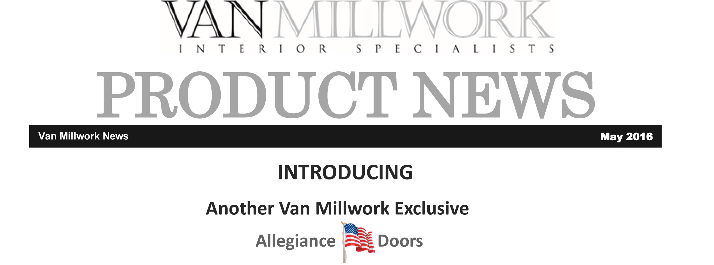 Van Millwork Introduces Allegiance Doors