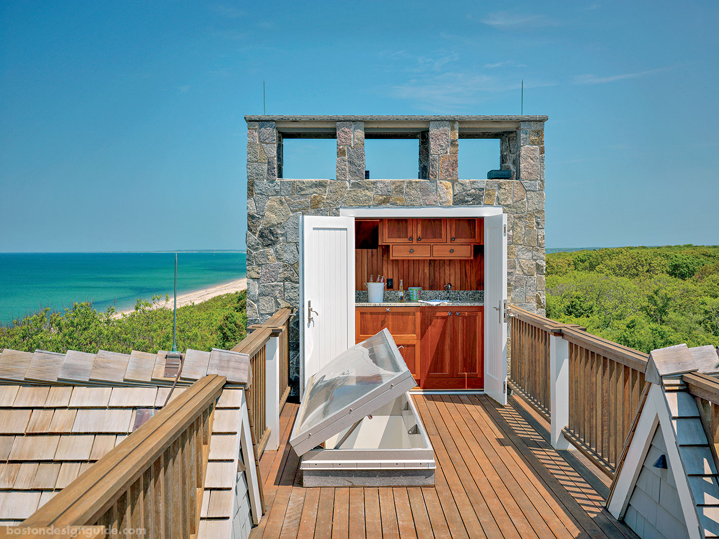 Widow's walk with ocean vistas by Duckham Architecture & Interiors