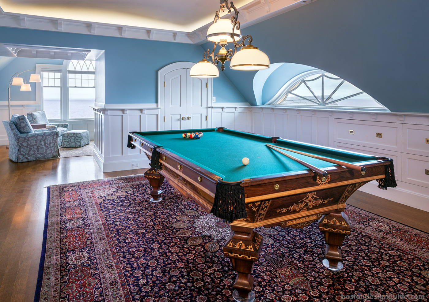 Superieur Restored Antique Pool Table