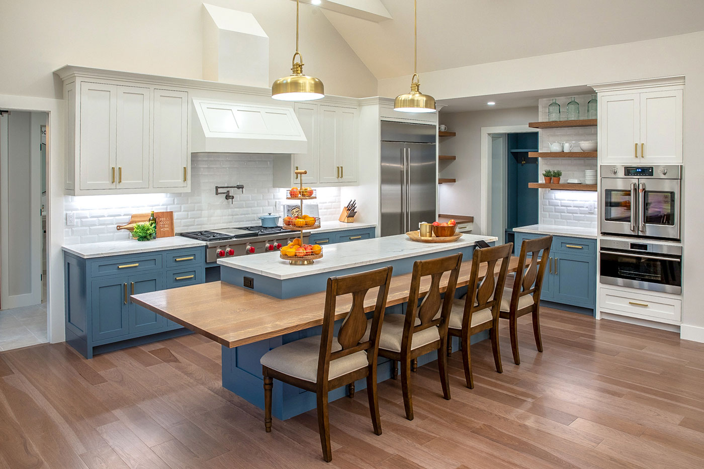 Custom kitchen of a specially adapted smart home, constructed through the R.I.S.E. program at the Gary Sinise Foundation